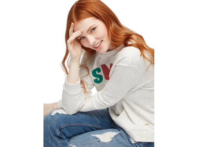 tom tailor denim sweatshirt mit patches die dodenhof online shoppingwelt. Black Bedroom Furniture Sets. Home Design Ideas