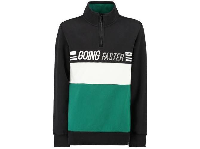 Schwarzer Pullover Going Faster mit Reißverschluss H93661 176