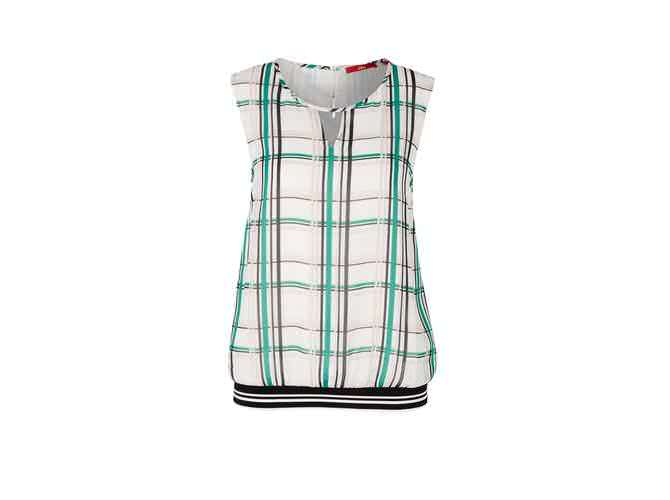 S. Oliver Double Layer Bluse mit Rippbund | die dodenhof