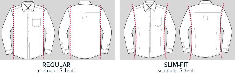 Hemden Passform engbers