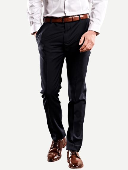 Blau emilio adani Herren Karierte Business-Hose 29029