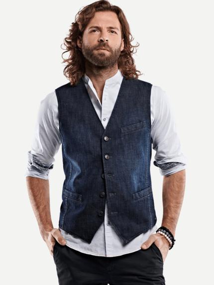 buy popular 3eeb1 ac207 Sakko-Weste aus Jeans