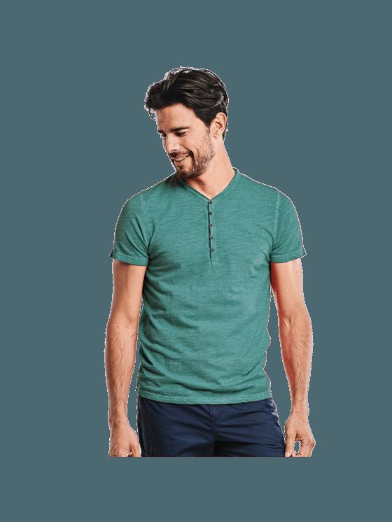 Brilliantblau Shirt Kaufen T Herren Henley In qIwUWTnSE