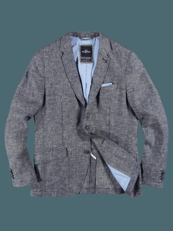 engbers Herren Freizeit-Sakko Regular Blau 27583