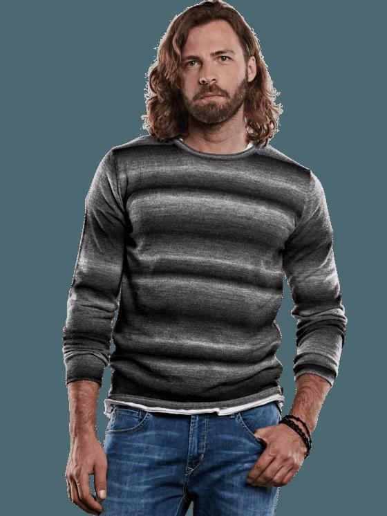herren pullover herren pullover mit ringeloptik in stahlgrau kaufen 28176 herren pullover marken herren pullover mit ringeloptik in