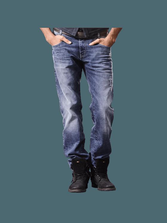 Emilio Adani Superstretch Denim Im Destroyed Look In Himmelblau