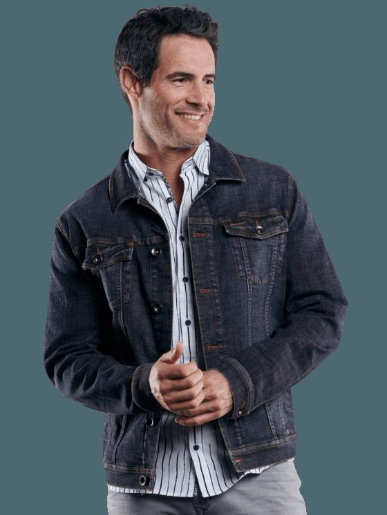 Herren engbers Jeansjacke in Saphirblau kaufen 29046 | engbers