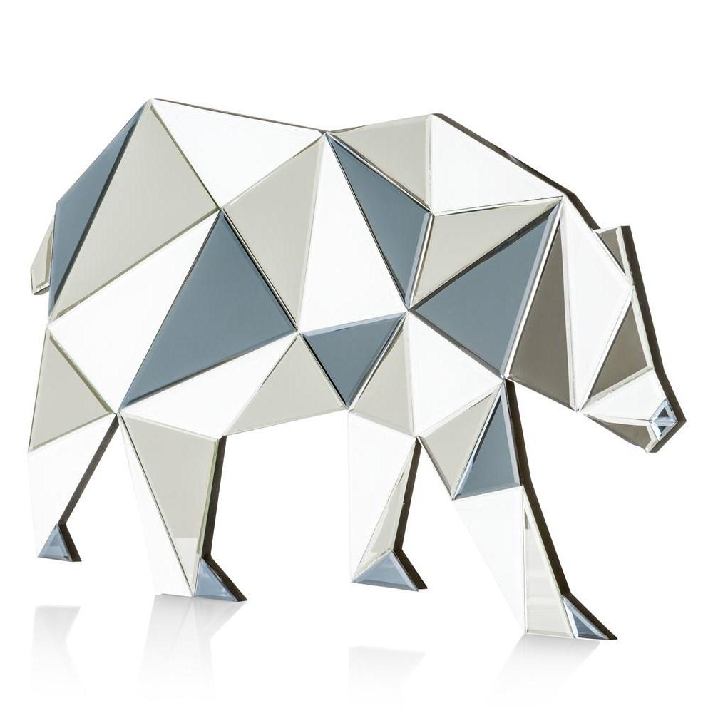 Spiegel wandspiegel bear in zilver nu bestellen in de coco for Wandspiegel bestellen