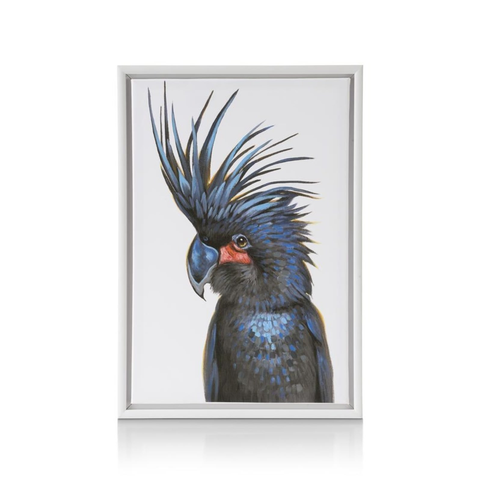 SCHILDERIJ FANCY PARROT BLACK