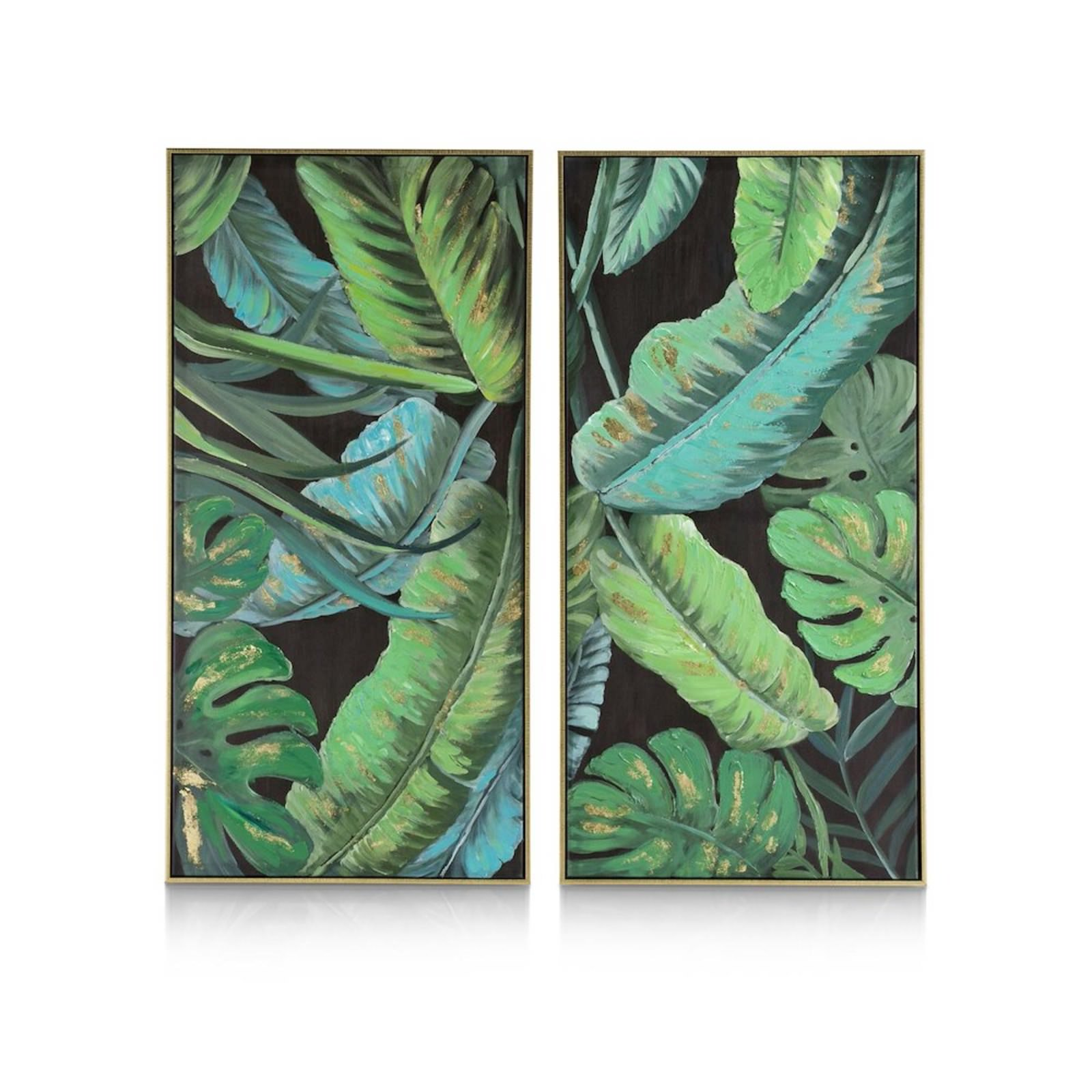 BANANA LEAFS TABLEAU DIPTYQUE