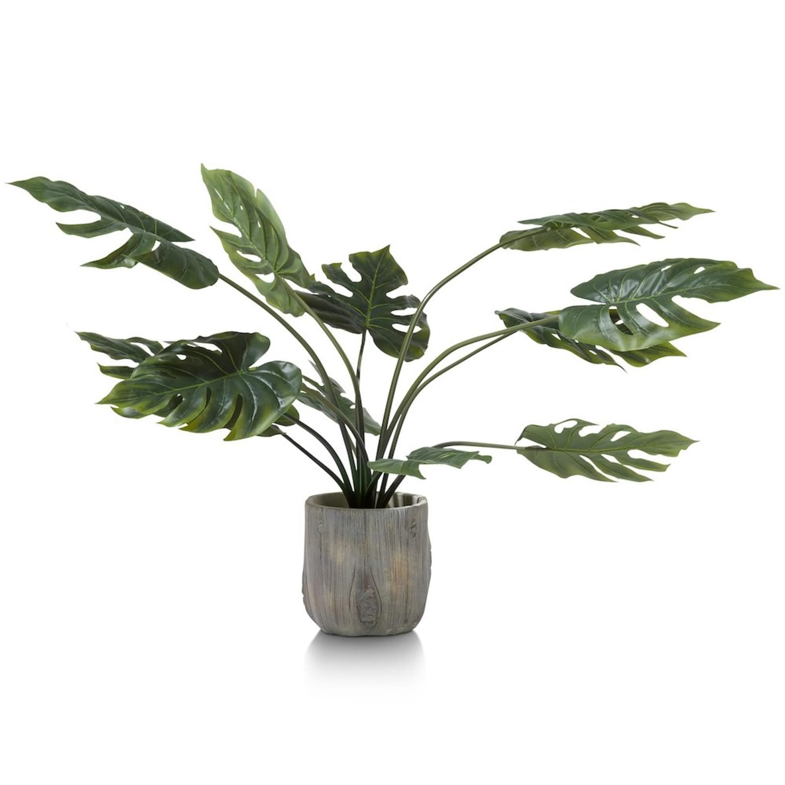 MONSTERA PLANTE ARTIFICIELLE H80CM