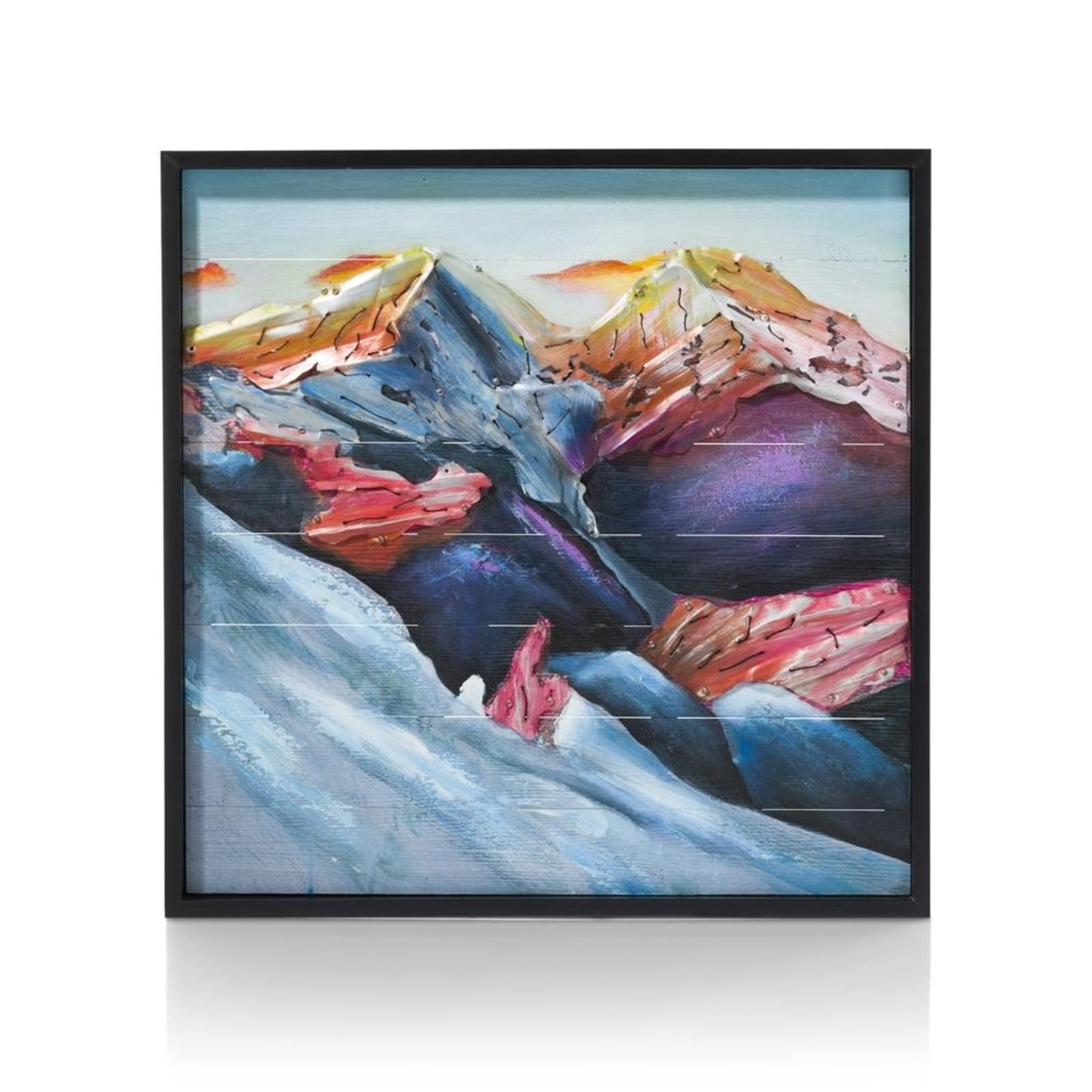 SCHILDERIJ METAL MOUNTAIN73X73