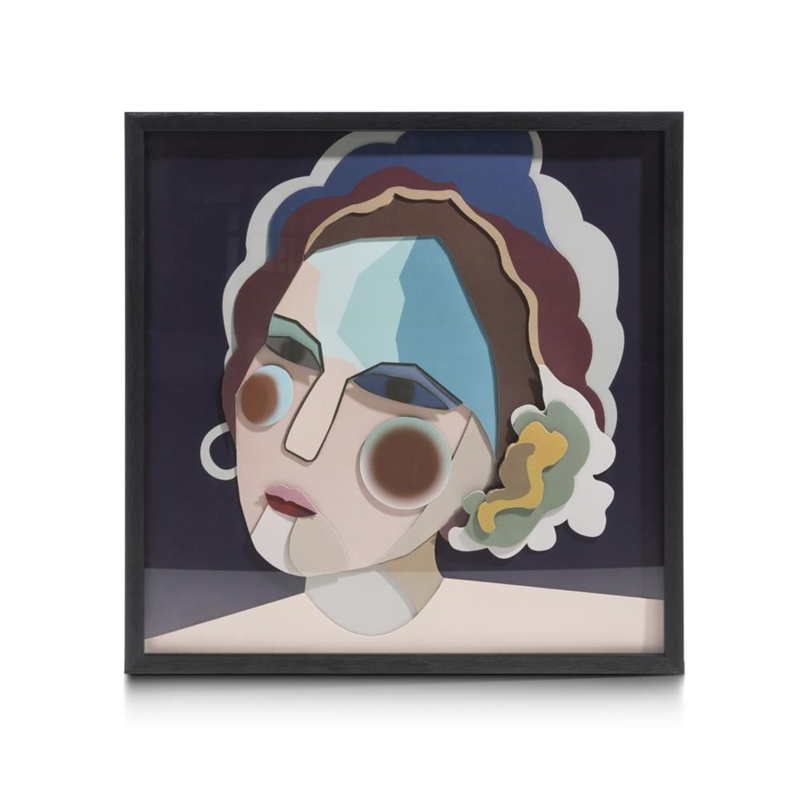 3-D WAND-OBJECT MADAME 60 X 60 CM