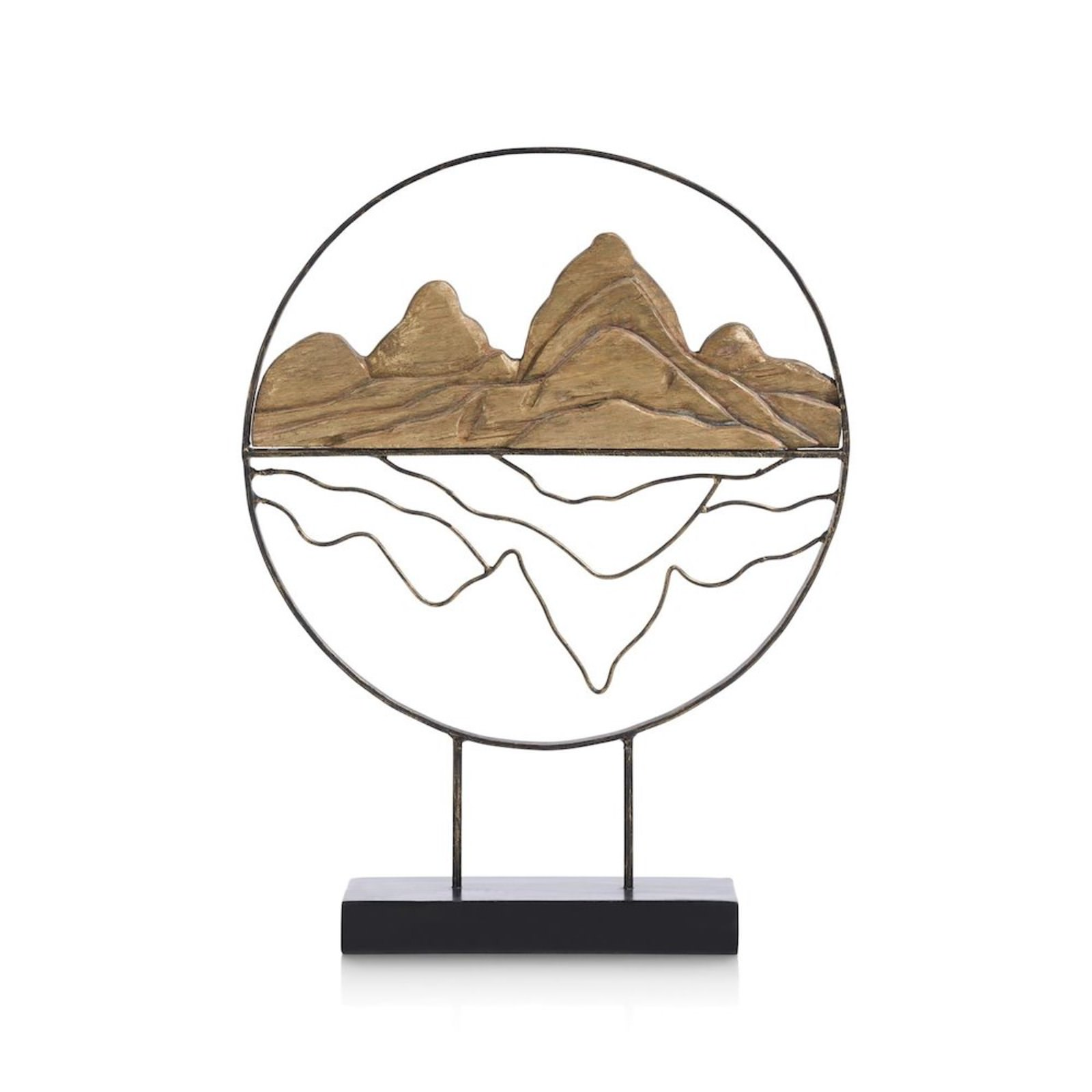 SKULPTURE MOUNTAINS H 52 CM