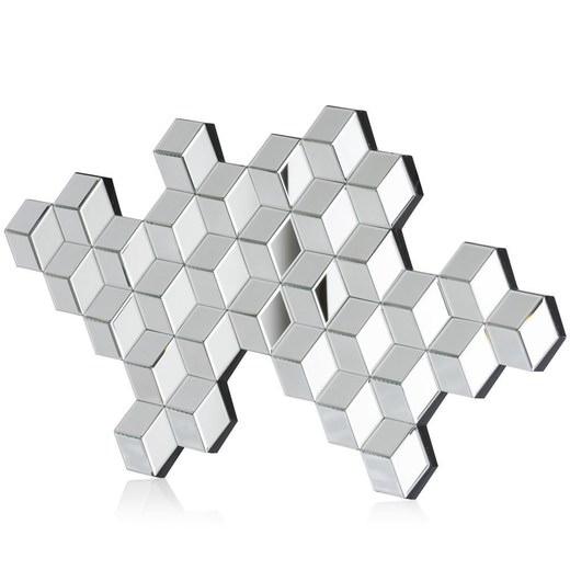 Spiegel geometric in zilver nu bestellen in de coco maison webshop - Spiegeldecoratie ...