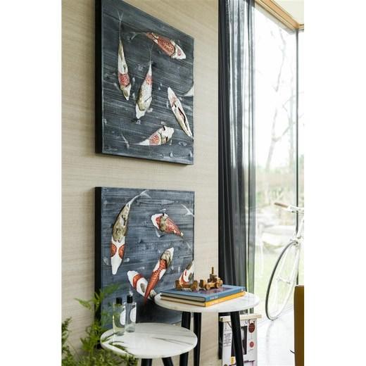 schilderij koi fish in multikleur nu bestellen in de coco. Black Bedroom Furniture Sets. Home Design Ideas