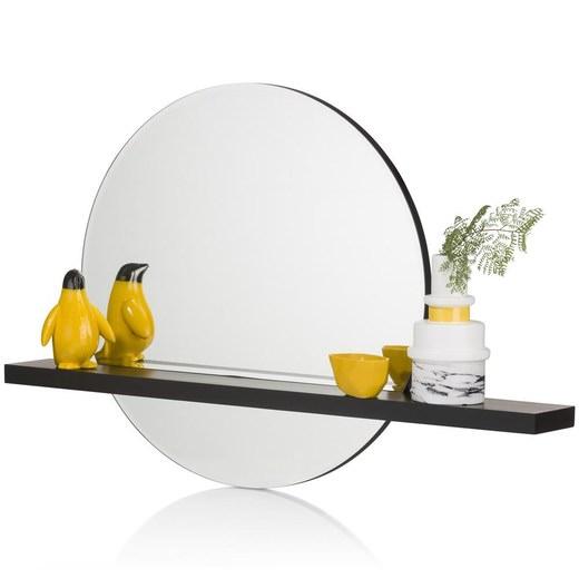 spiegel lucy in zwart nu bestellen in de coco maison webshop. Black Bedroom Furniture Sets. Home Design Ideas