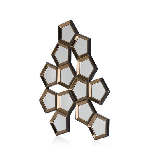 spiegel honeycomb in zilver koper nu bestellen in de coco. Black Bedroom Furniture Sets. Home Design Ideas
