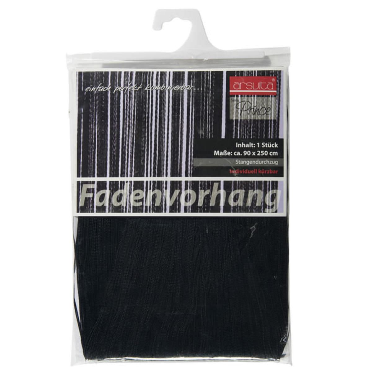 Fadenvorhang In Schwarz 90 X 250 Cm Jetzt Im Kodi Onlineshop Kaufen