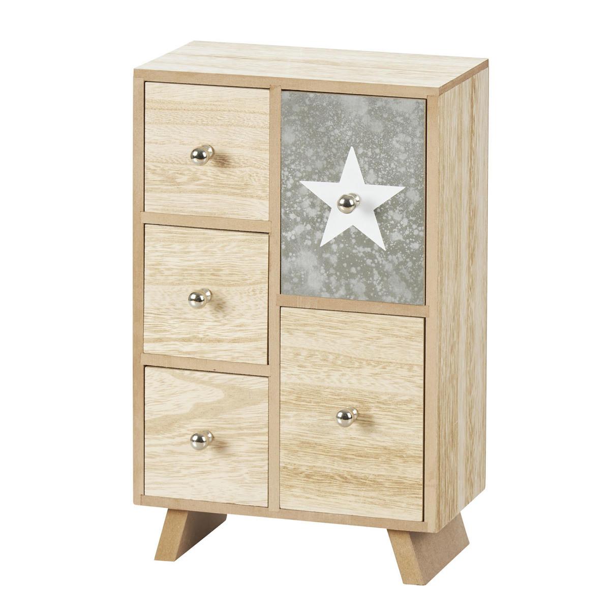 provida aufbewahrungsbox stern mit 5 schubladen jetzt im kodi onlineshop kaufen alles f r. Black Bedroom Furniture Sets. Home Design Ideas