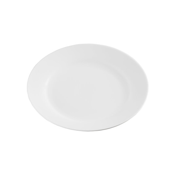 Provida Flacher Porzellan-Teller in Weiß