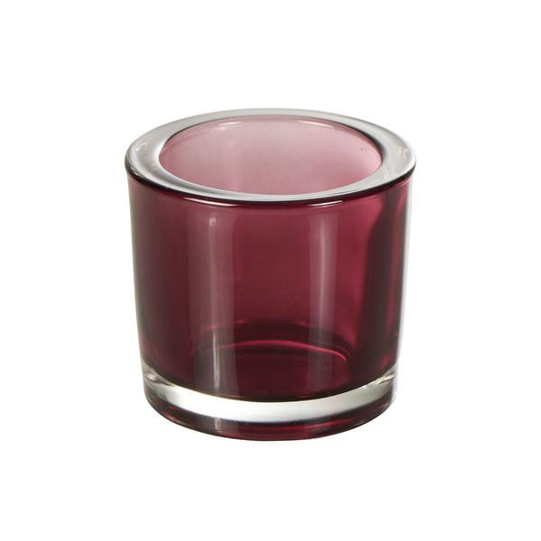 Teelichtglas in Lila