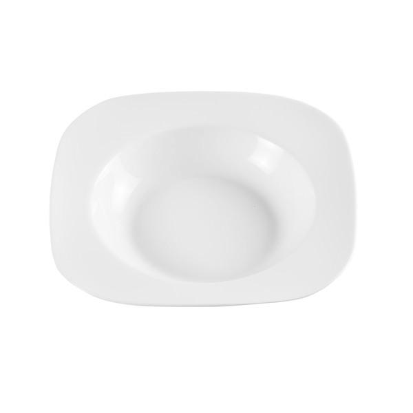 Provida Tiefer Porzellan-Teller in Weiß