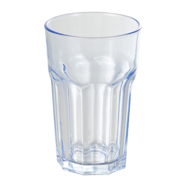 Wasserglas in Blau