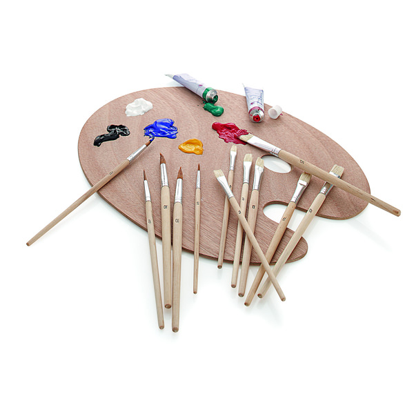 Minea Pinselset mit Holzpalette