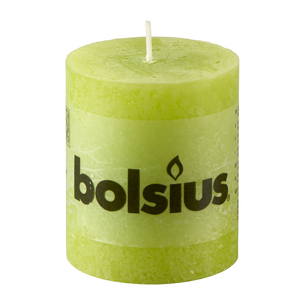 Bolsius Rustik-Stumpenkerze in Lemon