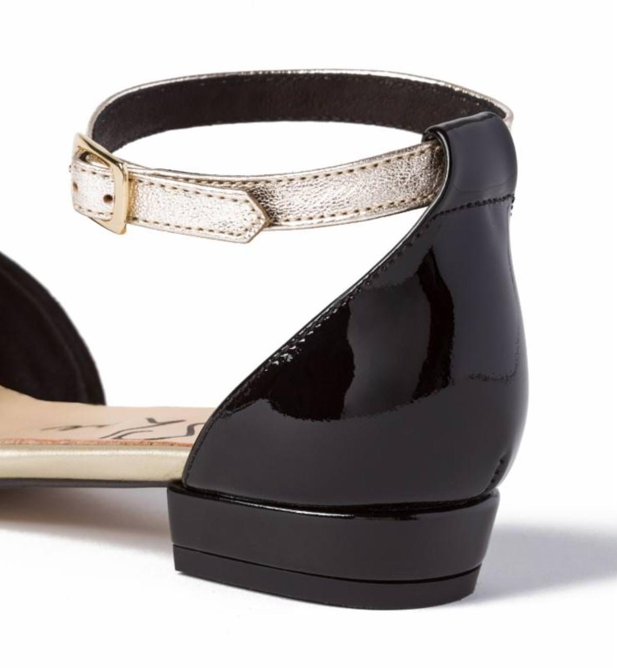 Sandale mit Sling Schwarz/Gold LaShoe WDNSHz
