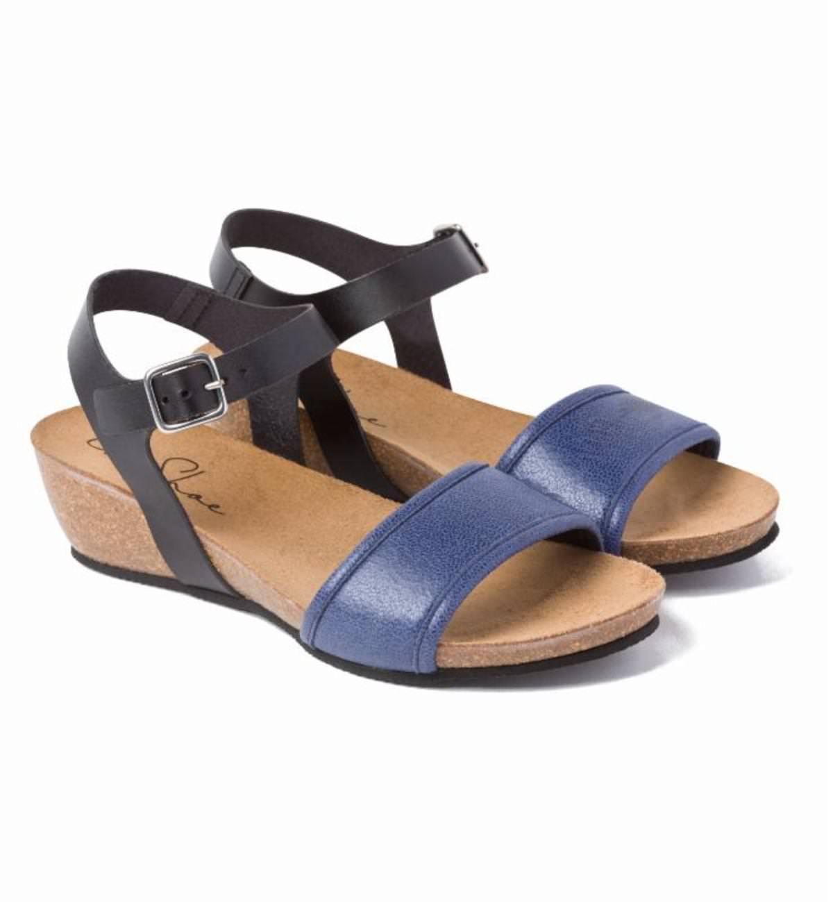 Sandale Schwarz/Blau LaShoe