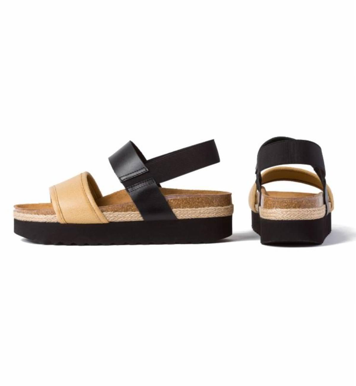 Sandale Creeper Schwarz/Beige