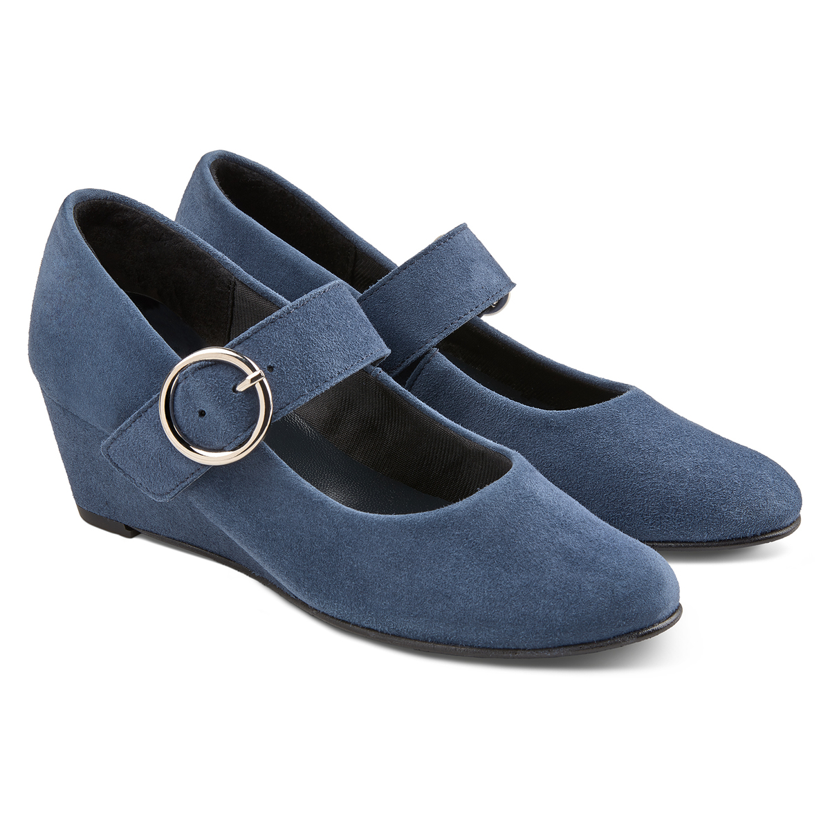 Wedge Pumps Jeansblau