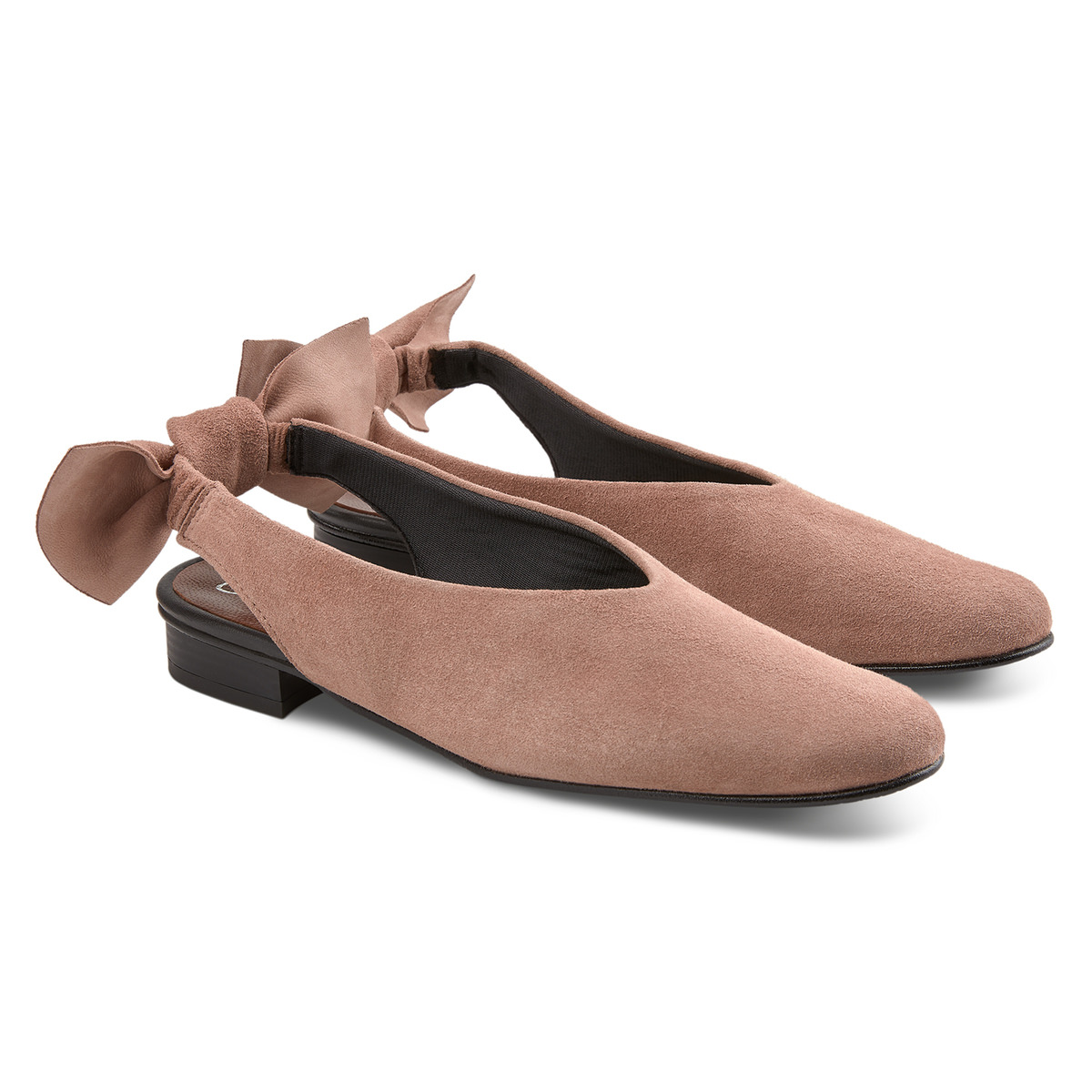 Backsling Slipper mit Schleife Nude