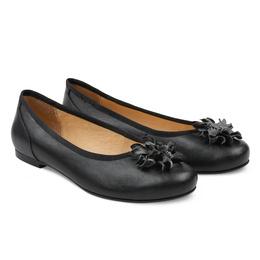Ballerina mit Blüte Schwarz – modischer und bequemer Schuh für Hallux valgus  und empfindliche Füße von 7ef0ecbfc9