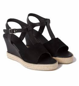 Keilabsatz Sandale Schwarz – modischer und bequemer Schuh für Hallux valgus  und empfindliche Füße von LaShoe 17e54b9471