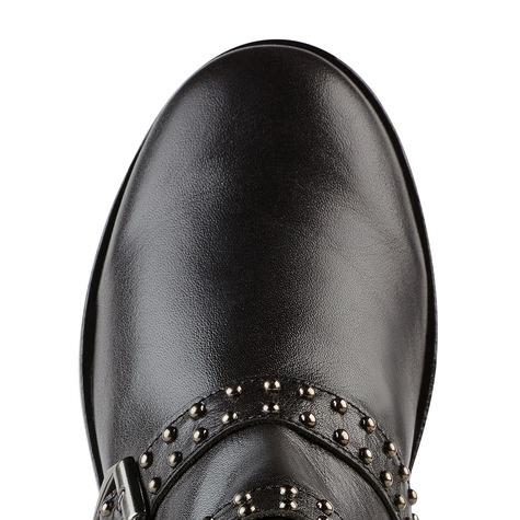 Biker-Ankleboot Schwarz – modischer und bequemer Schuh für Hallux valgus  und empfindliche Füße von 0d0c7b536e