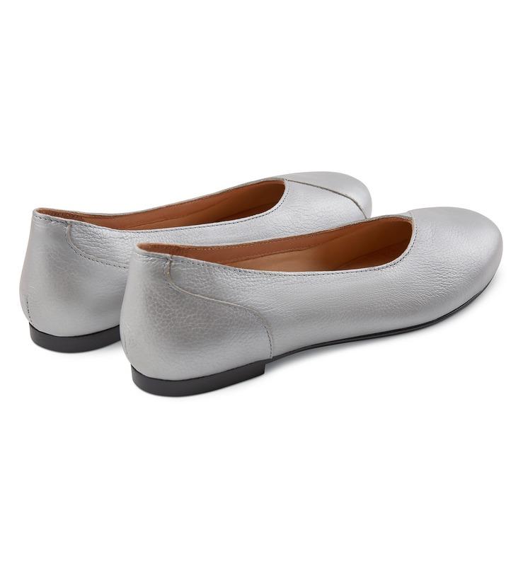 Flacher Ballerina Silber für HALLUX VALGUS kaufen | LaShoe