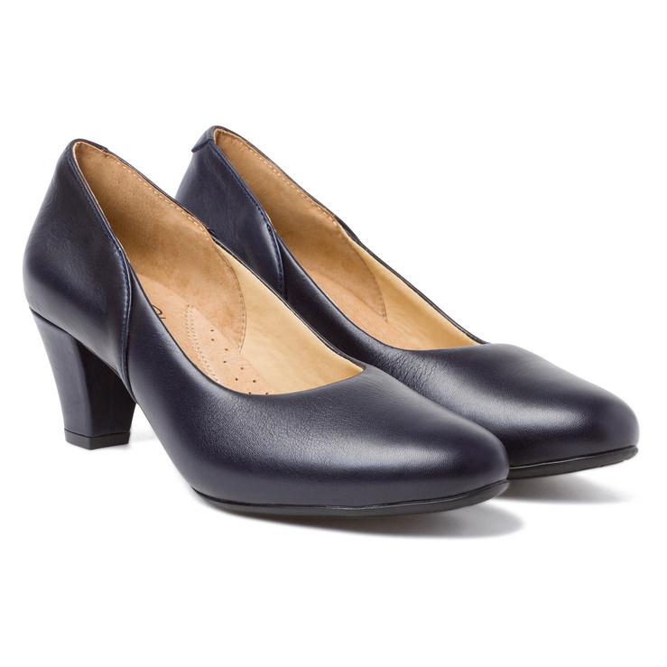 240461c31951e3 Klassischer Pumps mit Softfußbett Marine – modischer und bequemer Schuh für  Hallux valgus und empfindliche Füße