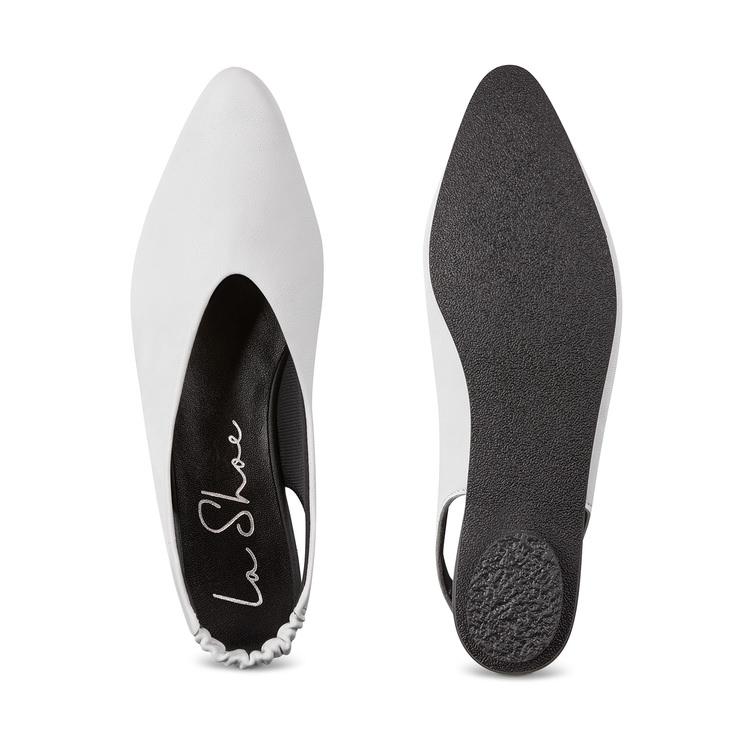 734f27ed42dbbc Backsling Slipper Weiß – modischer und bequemer Schuh für Hallux valgus und  empfindliche Füße von LaShoe