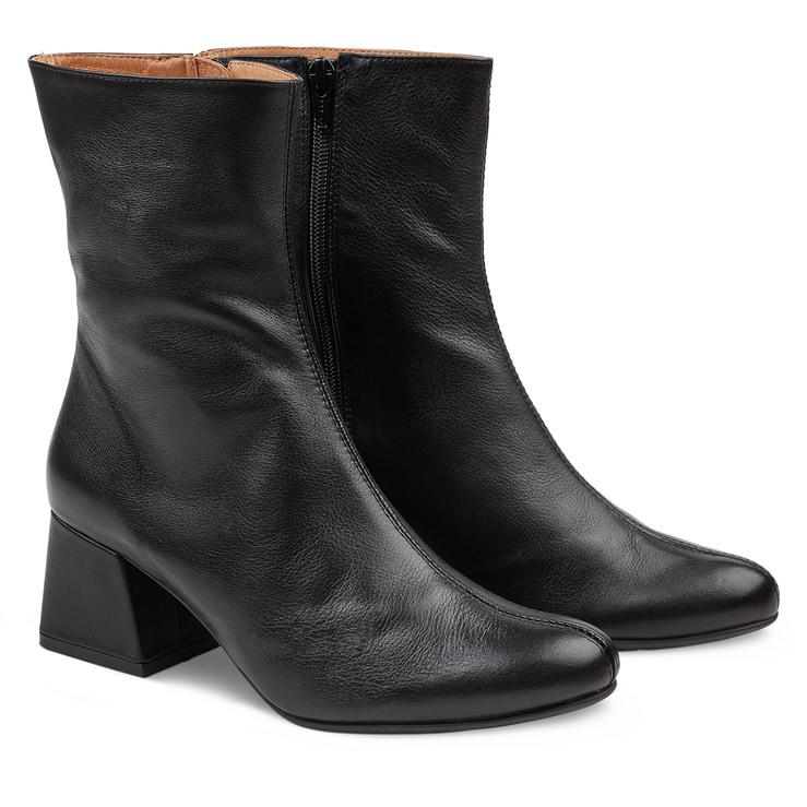 Stiefelette 70ies Schwarz – modischer und bequemer Schuh für Hallux valgus  und empfindliche Füße von LaShoe fd82697727