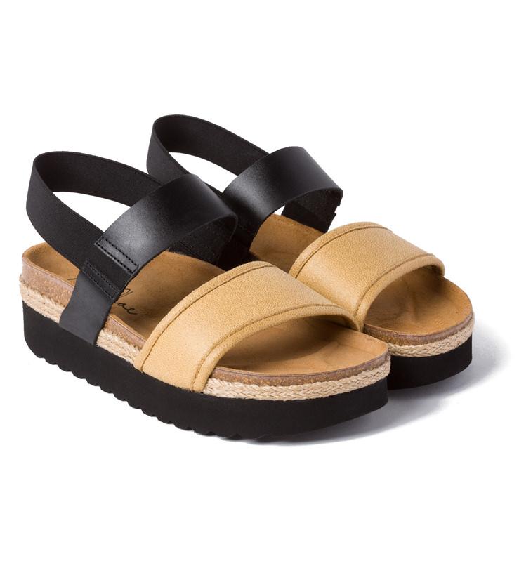 Sandale Creeper Schwarz Beige – modischer und bequemer Schuh für Hallux  valgus und empfindliche Füße c4df8a71cb