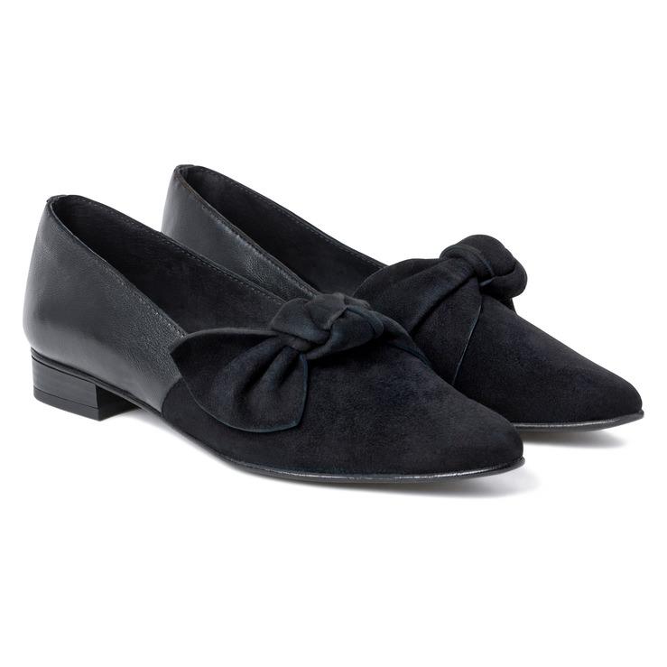 Slipper mit Schleife Schwarz – modischer und bequemer Schuh für Hallux  valgus und empfindliche Füße von 32f167318c