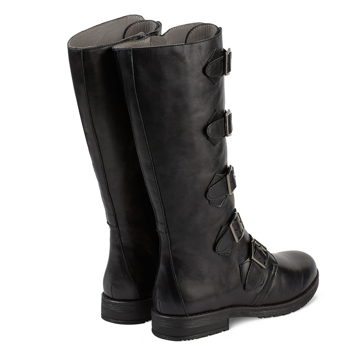 Biker-Stiefel Schwarz – modischer und bequemer Schuh für Hallux valgus und empfindliche  Füße von 0873f0136e