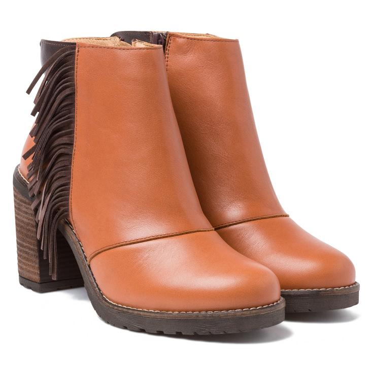 Stiefelette Western-Syle Cognac – modischer und bequemer Schuh für Hallux  valgus und empfindliche Füße d6acf5cfec