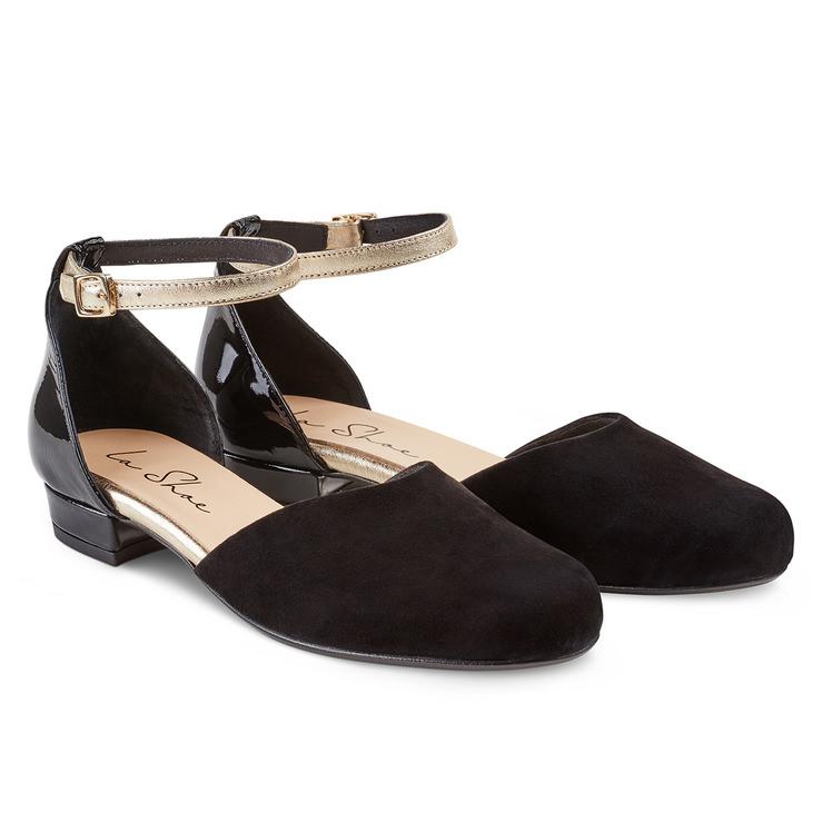 Sling-Ballerina Schwarz – modischer und bequemer Schuh für Hallux valgus  und empfindliche Füße von 84f5bebf59