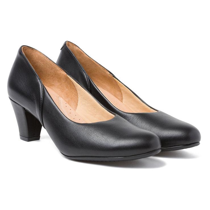 3c0e17cb02b255 Klassischer Pumps mit Softfußbett Schwarz – modischer und bequemer Schuh  für Hallux valgus und empfindliche Füße