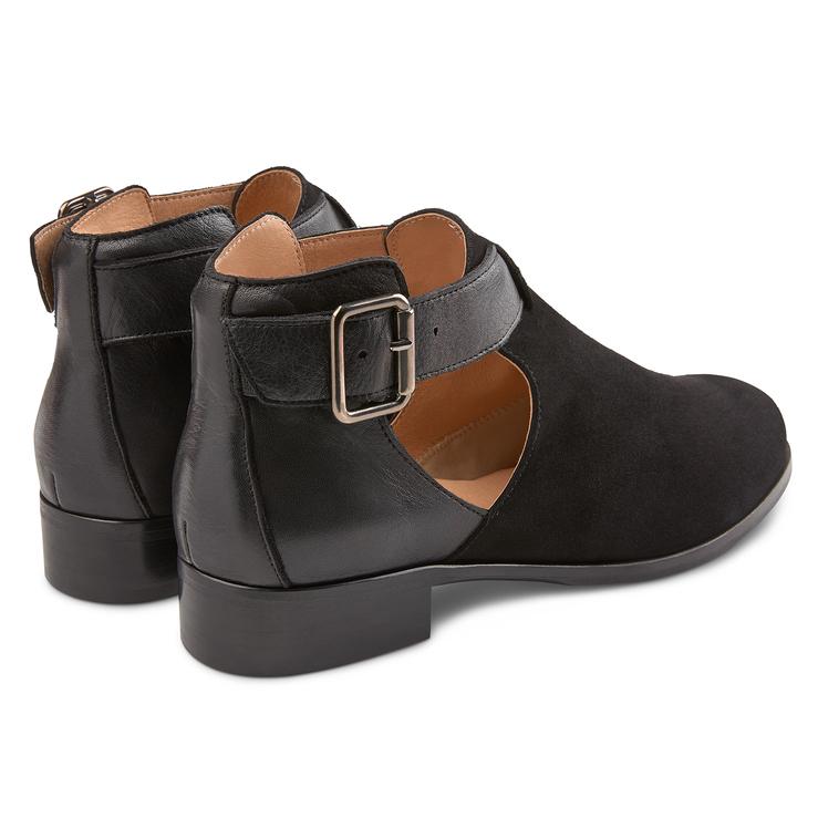 Boots mit Cut-Out Schwarz – modischer und bequemer Schuh für Hallux valgus  und empfindliche 116ad601c7