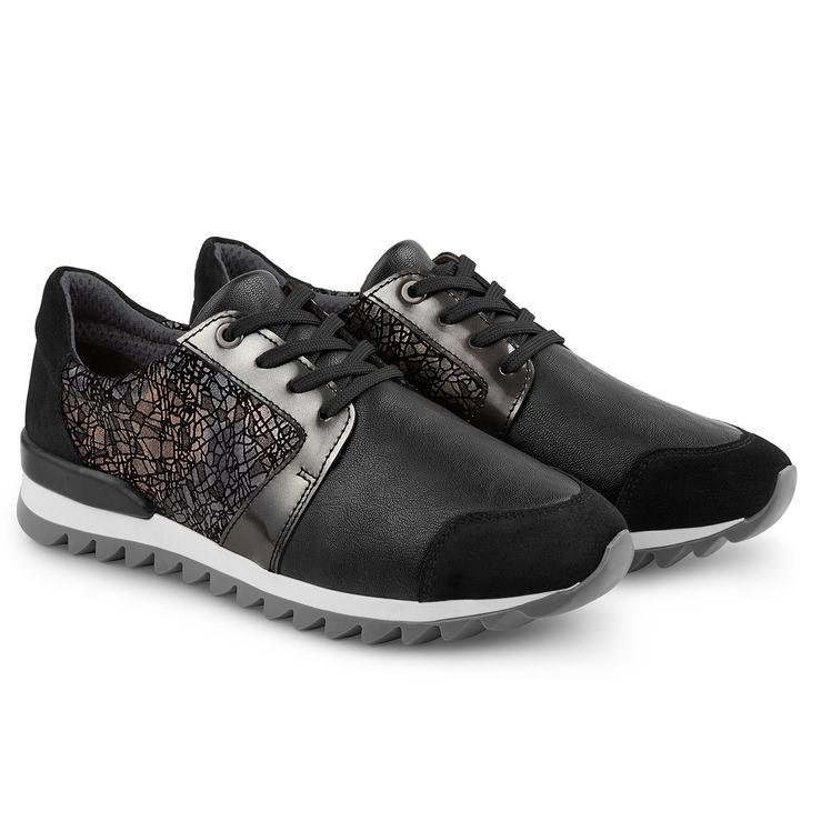 sale retailer c4eb5 2ebe4 Sneaker Haifischsohle Schwarz